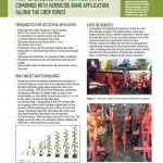 Inspiration Sheet: Prototype of camera controlled/guided post-emergence inter-row cultivator combined with herbicide band application (along the crop rows)