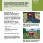 Inspiration Sheet: Flame weeding in no-till vegetable crops.